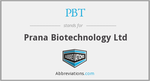 PBT - Prana Biotechnology Ltd