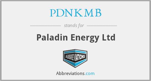 PDNKMB - Paladin Energy Ltd