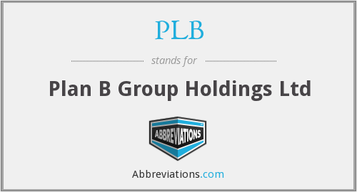 PLB - Plan B Group Holdings Ltd