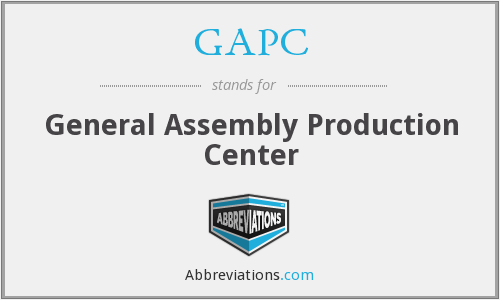 What does GAPC stand for?