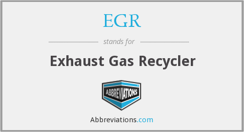 EGR - Exhaust Gas Recycler