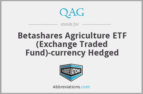 QAG - Betashares Agriculture ETF (Exchange Traded Fund)-currency Hedged