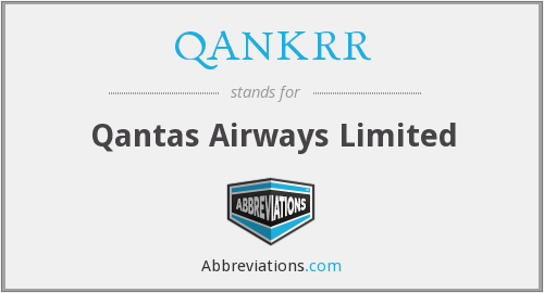QANKRR - Qantas Airways Limited