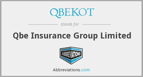 QBEKOT - Qbe Insurance Group Limited