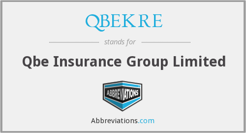 What does QBEKRE stand for?