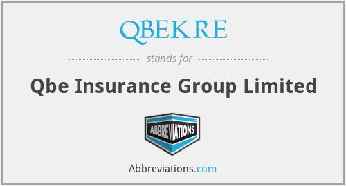 QBEKRE - Qbe Insurance Group Limited