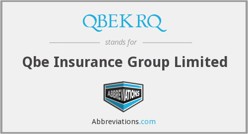 What does QBEKRQ stand for?