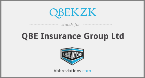 What does QBEKZK stand for?