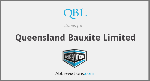 QBL - Queensland Bauxite Limited