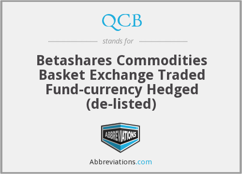 QCB - Betashares Commodities Basket Exchange Traded Fund-currency Hedged  (de-listed)