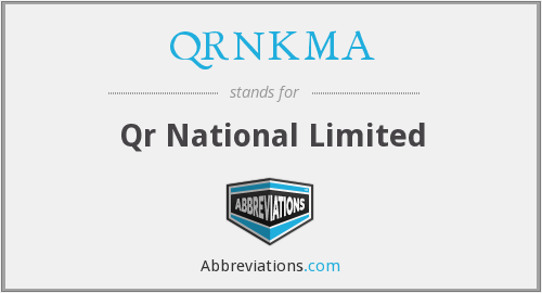 What does QRNKMA stand for?