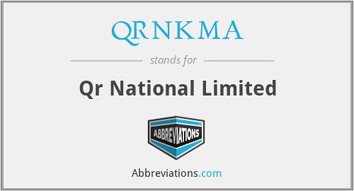 QRNKMA - Qr National Limited