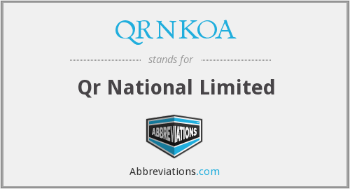 QRNKOA - Qr National Limited