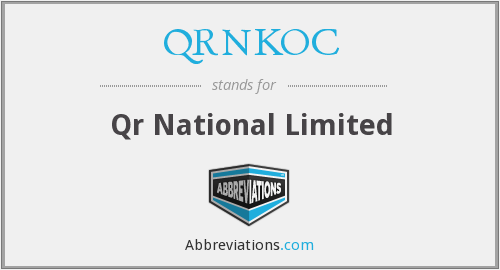 QRNKOC - Qr National Limited