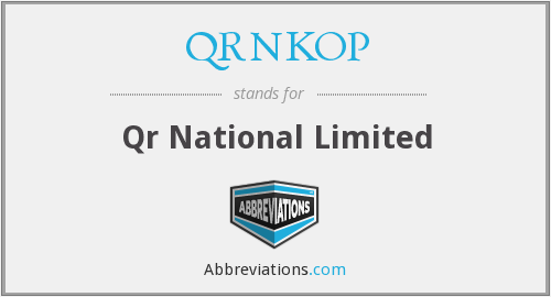 QRNKOP - Qr National Limited