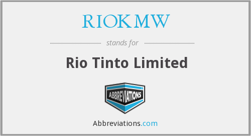 What does RIOKMW stand for?