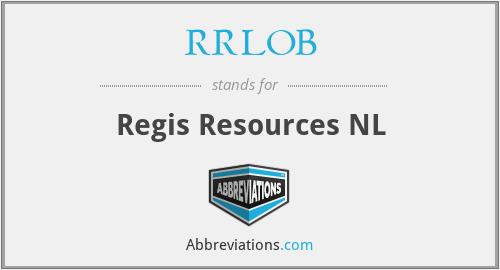 RRLOB - Regis Resources NL