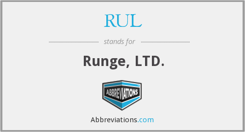 RUL - Runge, LTD.