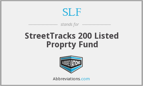 SLF - StreetTracks 200 Listed Proprty Fund
