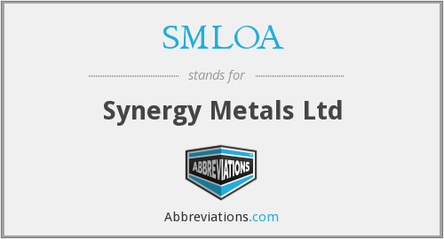 SMLOA - Synergy Metals Ltd