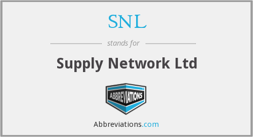 SNL - Supply Network Ltd