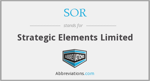 SOR - Strategic Elements Limited