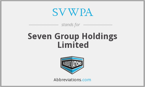 SVWPA - Seven Group Holdings Limited