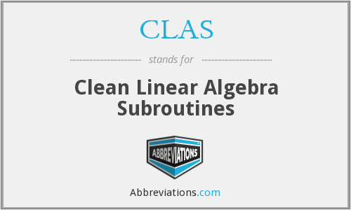 CLAS - Clean Linear Algebra Subroutines