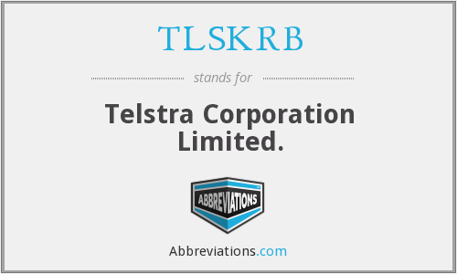 What does TLSKRB stand for?