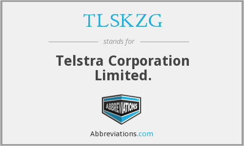 TLSKZG - Telstra Corporation Limited.