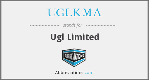 What does UGLKMA stand for?