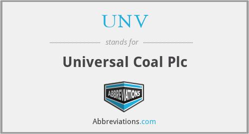 UNV - Universal Coal Plc