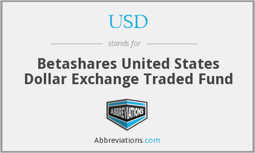USD - Betashares United States Dollar Exchange Traded Fund