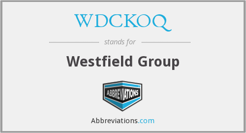 What does WDCKOQ stand for?