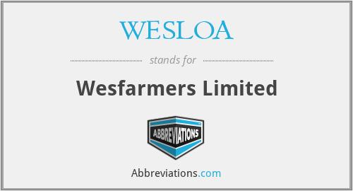 WESLOA - Wesfarmers Limited
