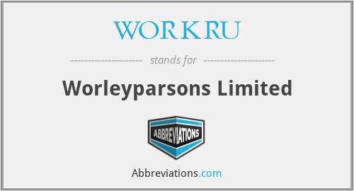 WORKRU - Worleyparsons Limited