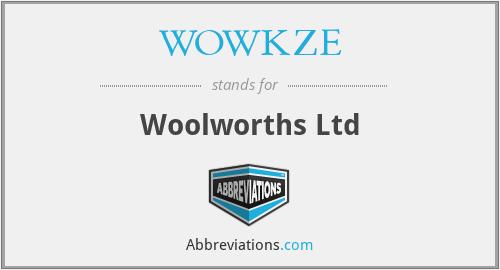WOWKZE - Woolworths Ltd