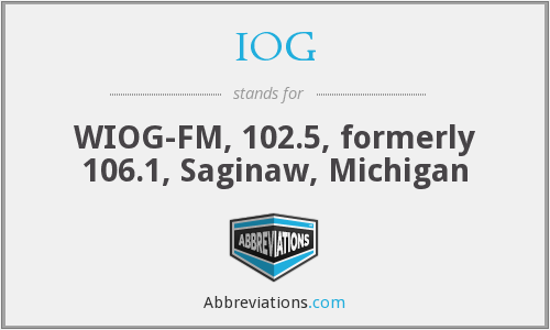 IOG - WIOG-FM, 102.5, formerly 106.1, Saginaw, Michigan
