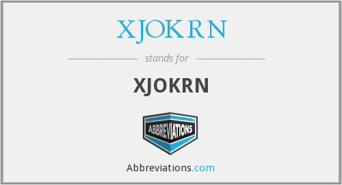 What does XJOKRN stand for?