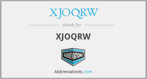 What does XJOQRW stand for?