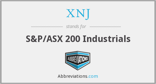 XNJ - S&P/ASX 200 Industrials