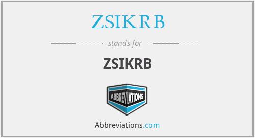 ZSIKRB - ZSIKRB