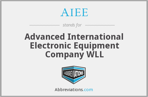 AIEE - Advanced International Electronic Equipment Company WLL