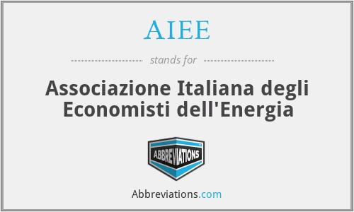 AIEE - Associazione Italiana degli Economisti dell'Energia