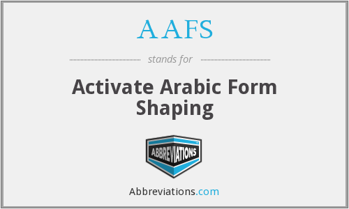 AAFS - Activate Arabic Form Shaping