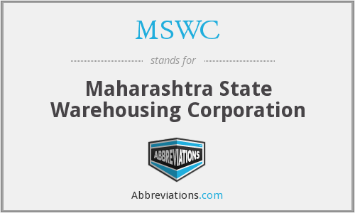 MSWC - Maharashtra State Warehousing Corporation
