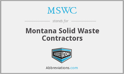 MSWC - Montana Solid Waste Contractors