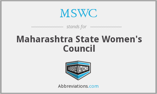MSWC - Maharashtra State Women's Council