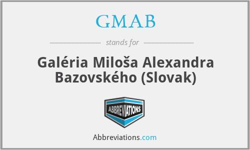 GMAB - Galéria Miloša Alexandra Bazovského (Slovak)
