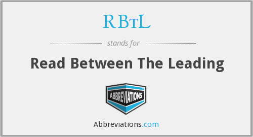 RBtL - Read Between The Leading